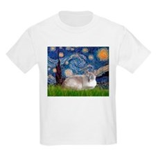 Starry / Lilac Pt Siamese cat T-Shirt