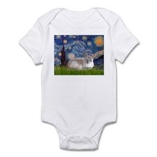 Starry / Lilac Pt Siamese cat Infant Bodysuit