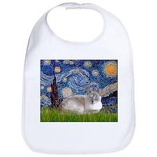 Starry / Lilac Pt Siamese cat Bib