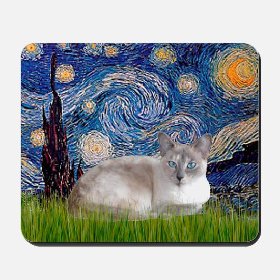Starry / Lilac Pt Siamese cat Mousepad
