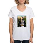 Mona's Keeshond (E) Women's V-Neck T-Shirt