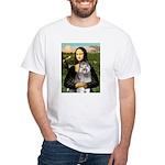 Mona's Keeshond (E) White T-Shirt