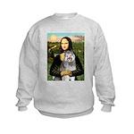 Mona's Keeshond (E) Kids Sweatshirt