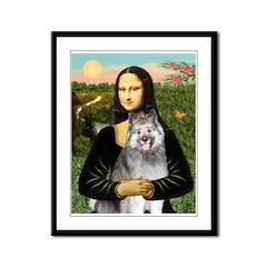 Mona's Keeshond (E) Framed Panel Print