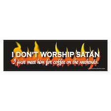 Don't Worship Satan Bumper Car Sticker