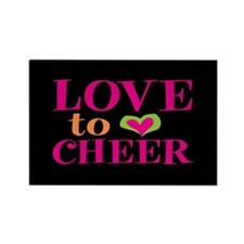 Love to Cheer Rectangle Magnet
