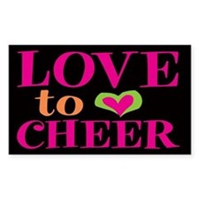 Love to Cheer Rectangle Decal