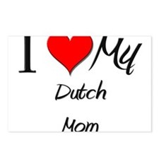 I Love My Dutch Mom Postcards (Package of 8)