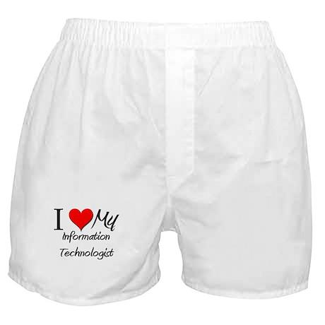 I Heart My Information Technologist Boxer Shorts