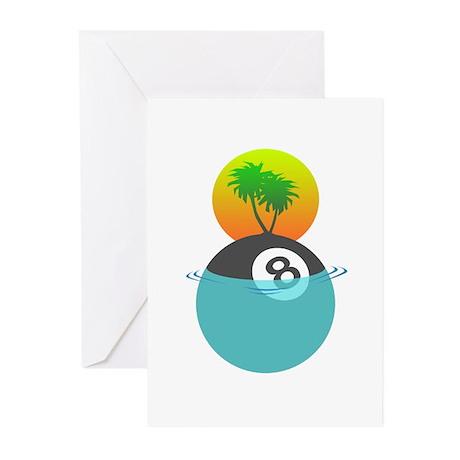Billiard Paradise Greeting Cards (Pk of 10)
