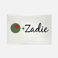 Olive Zadie Rectangle Magnet