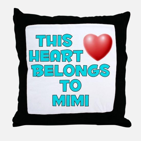 This Heart: Mimi (E) Throw Pillow