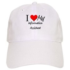 I Heart My Information Assistant Baseball Cap