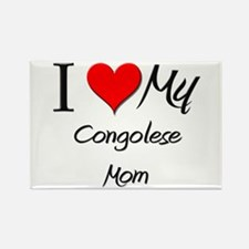 I Love My Congolese Mom Rectangle Magnet