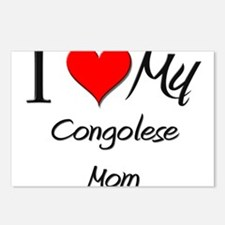 I Love My Congolese Mom Postcards (Package of 8)