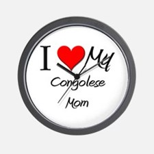 I Love My Congolese Mom Wall Clock