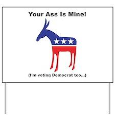 Democratic Donkey Yard Sign