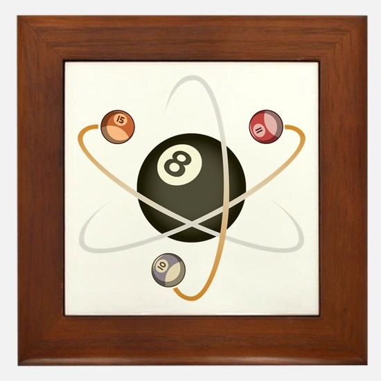Billiard Atom Framed Tile