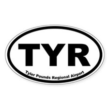Tyler Pounds Regional Airport Oval Decal