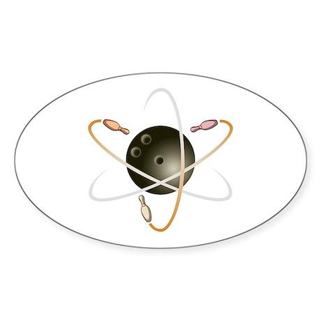 Bowling Atom Oval Sticker