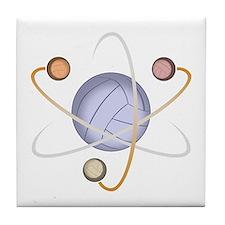 Volleyball Atom Tile Coaster