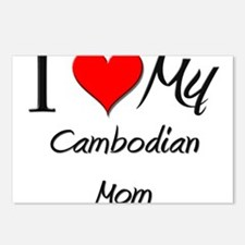 I Love My Cambodian Mom Postcards (Package of 8)