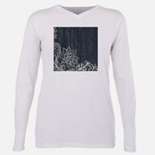 white lace black chalkboard T-Shirt