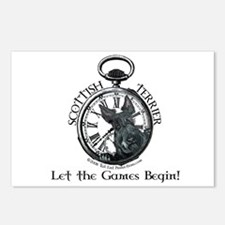 Scottish Terrier Game Time! Postcards (Package of