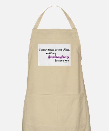 Never Knew A Hero GRANDDAUGHTER (Purple) BBQ Apron