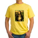 Mona Lisa's Sheltie (S) Yellow T-Shirt