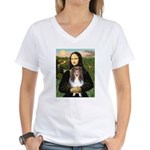 Mona Lisa's Sheltie (S) Women's V-Neck T-Shirt