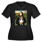 Mona Lisa's Sheltie (S) Women's Plus Size V-Neck D