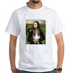 Mona Lisa's Sheltie (S) White T-Shirt