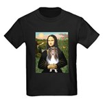 Mona Lisa's Sheltie (S) Kids Dark T-Shirt