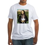 Mona Lisa's Sheltie (S) Fitted T-Shirt