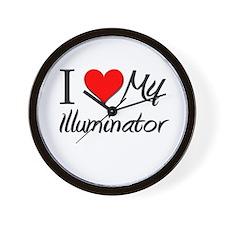 I Heart My Illuminator Wall Clock