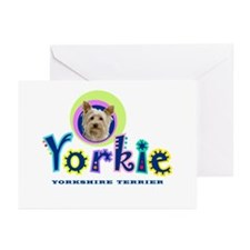 Tropical Type Yorkie - Greeting Cards (Pk of 10)