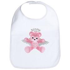 PINK ANGEL BEAR Bib