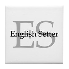 English Setter ES Tile Coaster