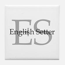 English Setter ES Tile Coaster