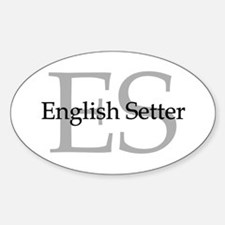 English Setter ES Oval Decal