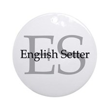 English Setter ES Ornament (Round)