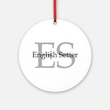 English Setter ES Ornament (Round)