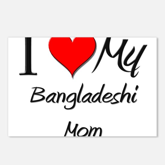 I Love My Bangladeshi Mom Postcards (Package of 8)