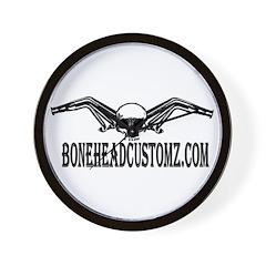 BONEHEAD HEADERS Wall Clock