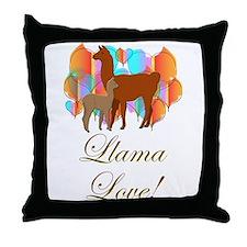 Llama Love! Throw Pillow