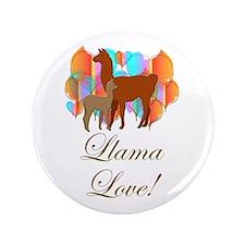 "Llama Love! 3.5"" Button (100 pack)"