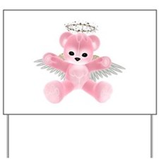 PINK ANGEL BEAR Yard Sign