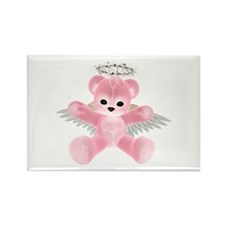 PINK ANGEL BEAR Rectangle Magnet