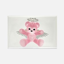 PINK ANGEL BEAR Rectangle Magnet